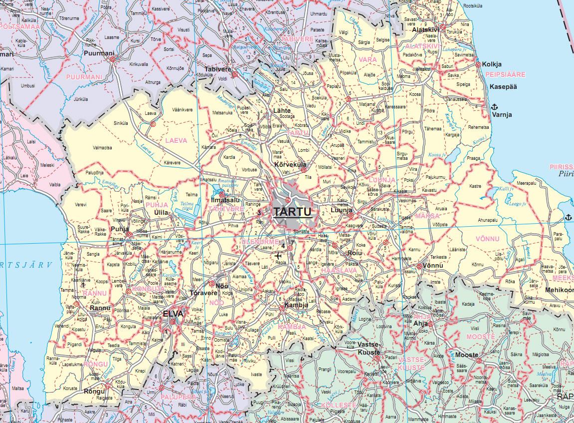 Estonian Land Board Geoportal Wall Map Of Estonian - Estonia from the us map
